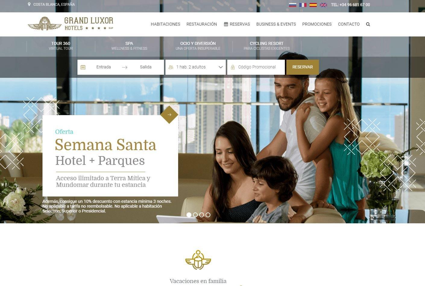 Home web Grand Luxor Hotel Benidorm