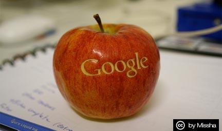 Apple quiere un trozo del pastel de Google