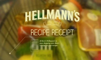 Hellmann's imprime recetas en los tickets de compra